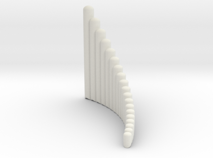 """Right handed 19-tube """"Alto"""" Panpipe 3d printed"""