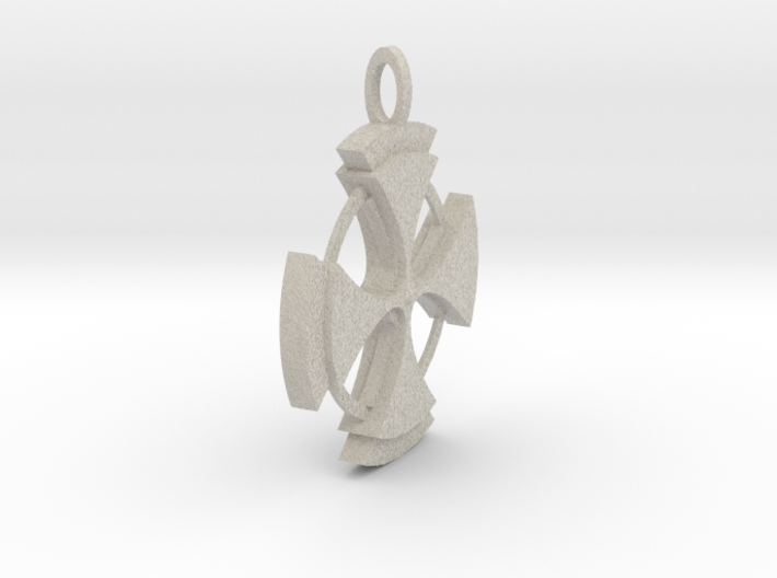 Celtic Cross Pendant 3d printed