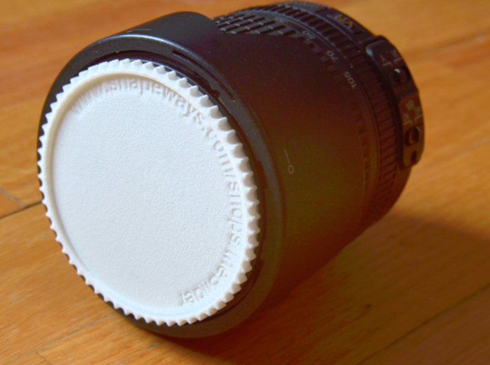 Double threaded lens cap: 62 and 55 mm 3d printed