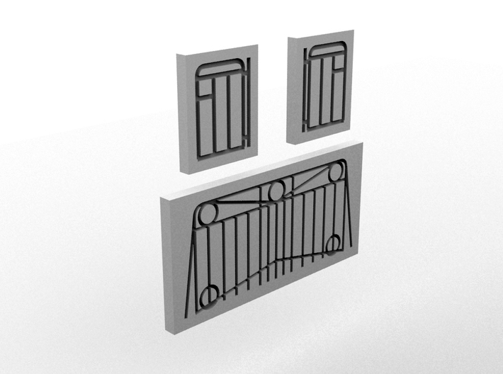 NAL Handrail Template(HO/1:87 Scale) 3d printed