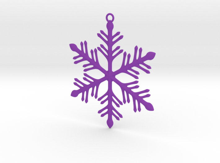 Ornament, Snowflake 002 3d printed