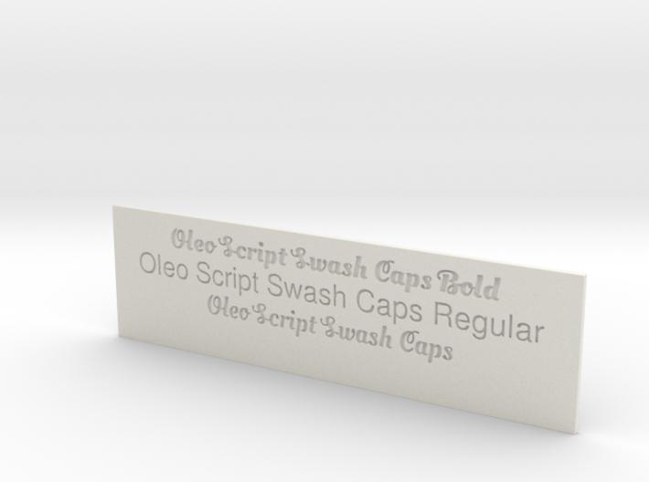 Font Samples - Oleo Script Swash Caps 3d printed