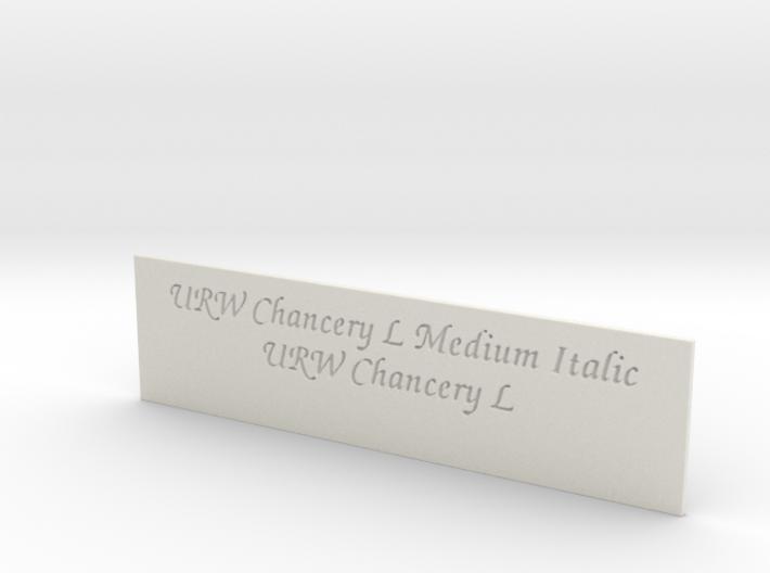 Font Samples - URW Chancery L 3d printed