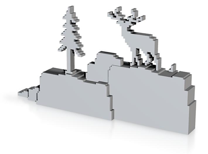Deer Diorama - The Deer God Forest 3d printed