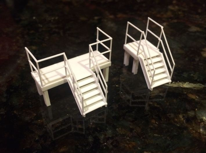 Factory Stairs in HO - Wide - 2 sets 3d printed printed part