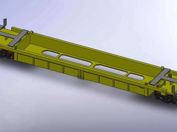 Z Scale Thrall 40ft Well Car 3d printed