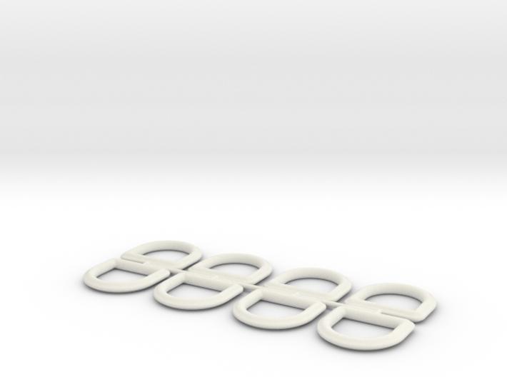 HD D-Rings 3d printed