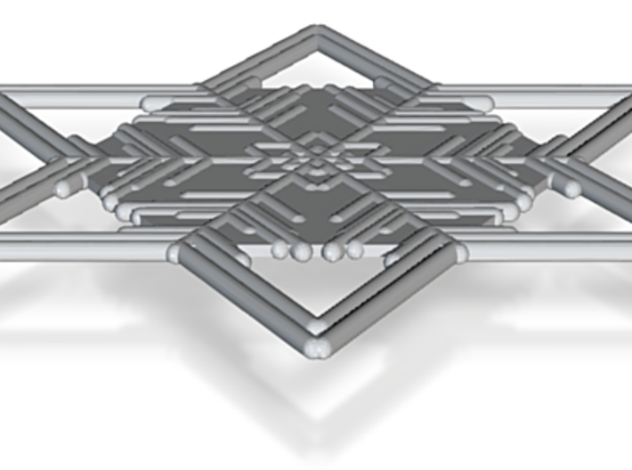 Snowflakes Series II: No. 6 3d printed