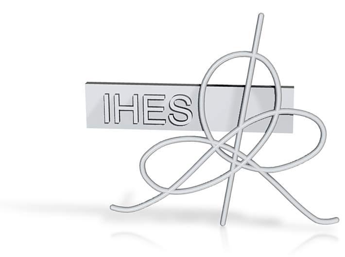 IHES Logo Lapel Pin 11 26 2014 3d printed