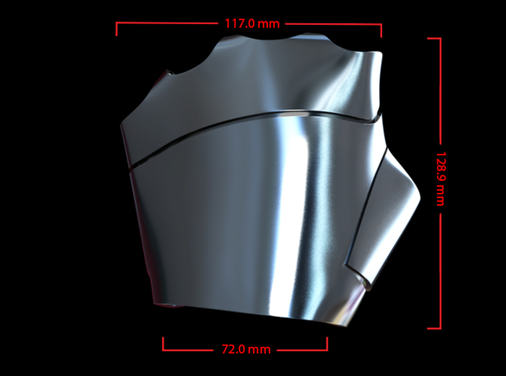 Metal Iron Man Left Palm Armor (Size Large) 3d printed CG Render (Top Measurements)