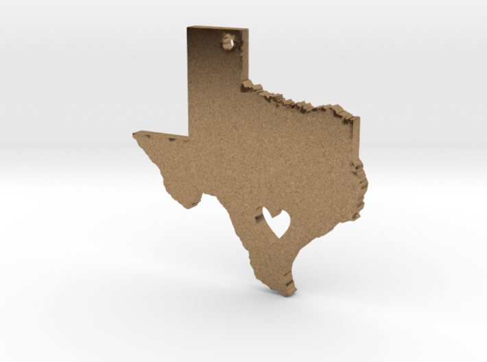 I love Texas Necklace Pendant 3d printed