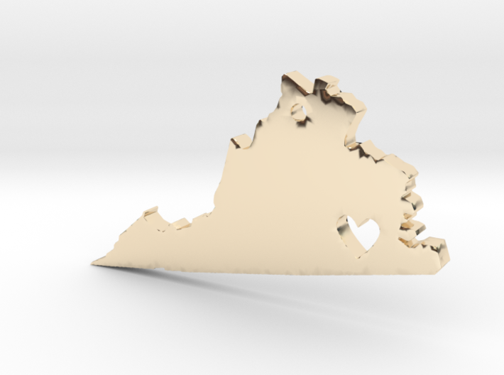 I love Virginia Pendant 3d printed