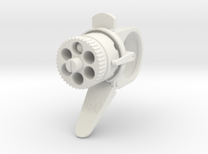 Steampunk Gun Ring  3d printed