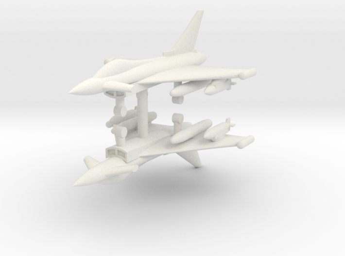 1/285 Eurofighter Typhoon Single Seat (x2) 3d printed