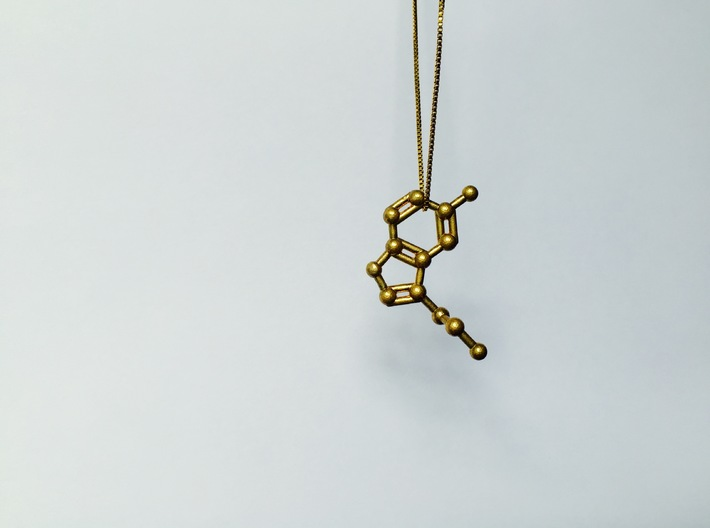 Serotonin Molecule Keychain Necklace 3d printed Serotonin molecule necklace.
