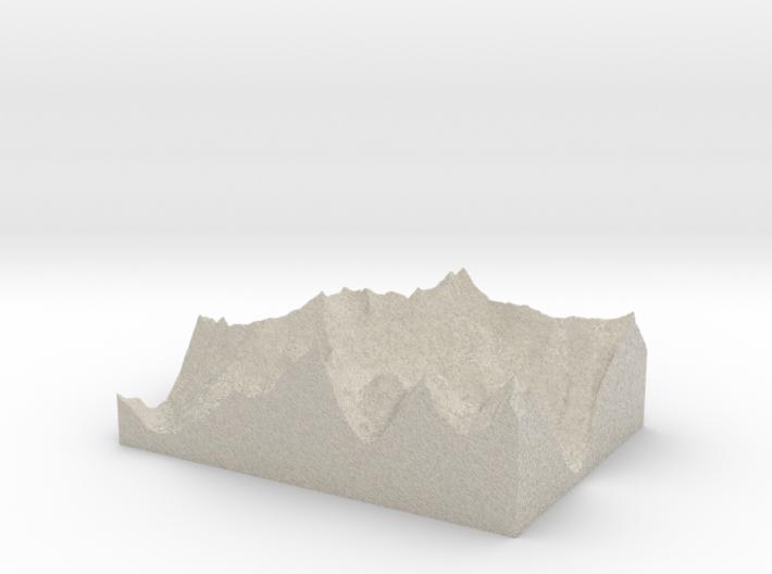 Model of Lake Blethen 3d printed