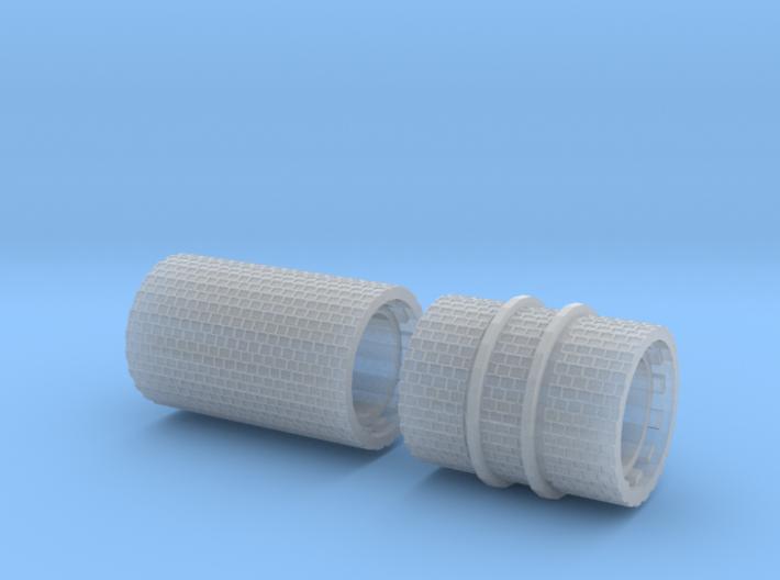 SET 2x Straßenwalzen Schmalspur (Nm 1:160) 3d printed