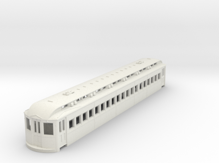 O Scale L&WV Long Steel Coach body shell 3d printed