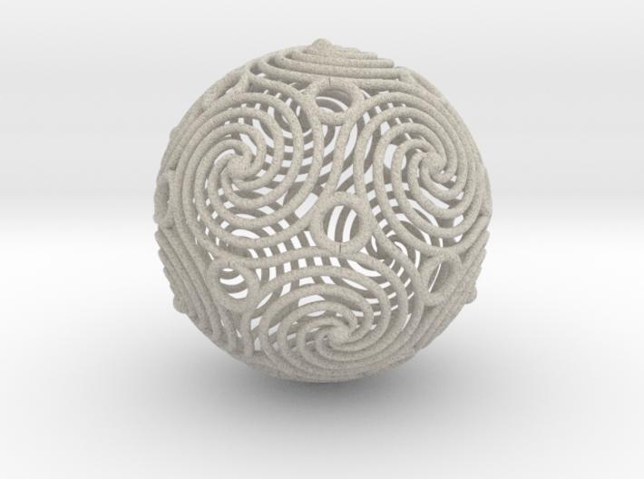 spiraling icosahedron | 2.4mm 3d printed