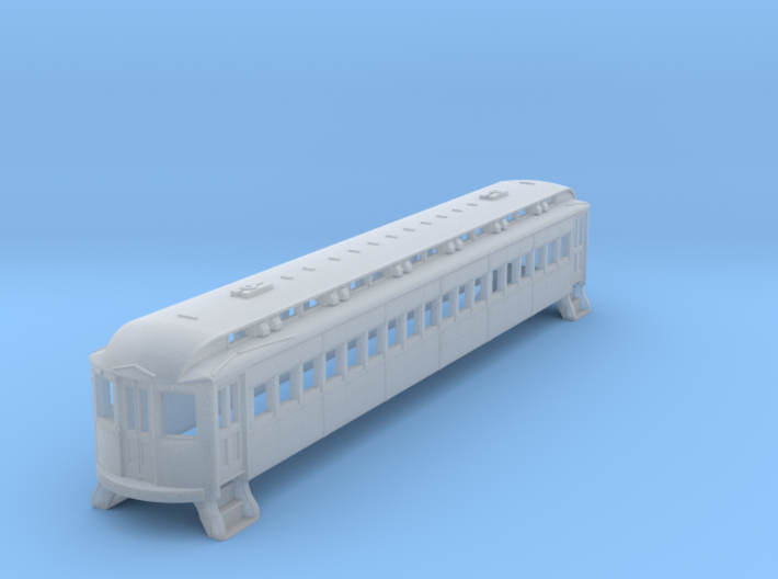 N Scale L&WV Short Steel Coach body shell 3d printed