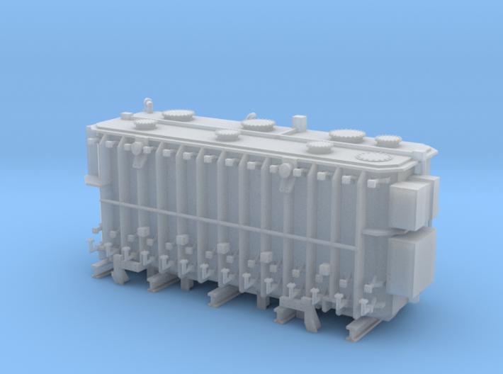 Transformer load Walthers QTTX 4 trk well flat  3d printed