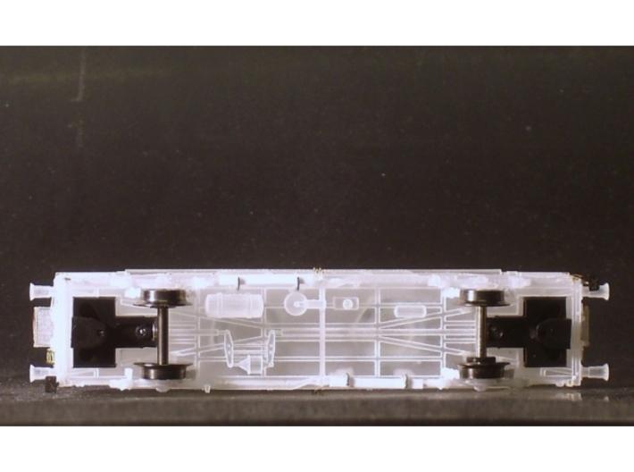 2301 1/160 Gedeckter Fährbootwagen Gbtmks66 der DB 3d printed Wagenboden mit Kurzkupplungskulissen