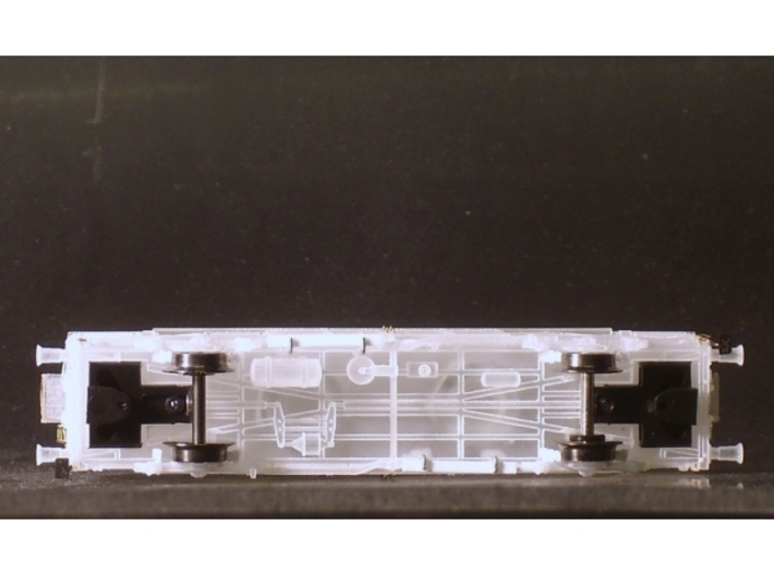 2351 1/148 German train-ferry van E277 3d printed Bottom view with close coupler motion link