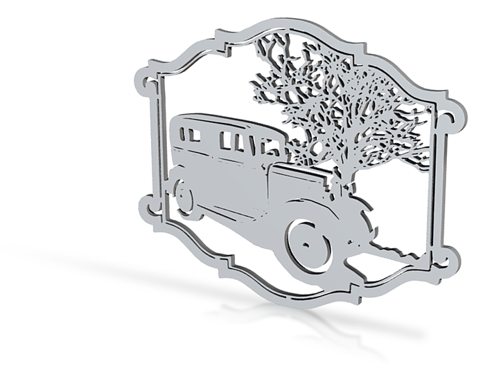 Model A Ford Medallion 3d printed
