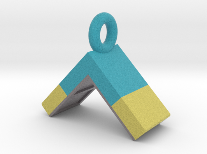 Agility A-Frame Pendant (Blue Version) 3d printed