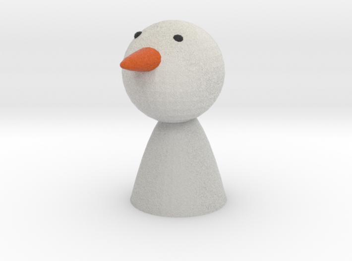 Oleg the Snow Man 3d printed
