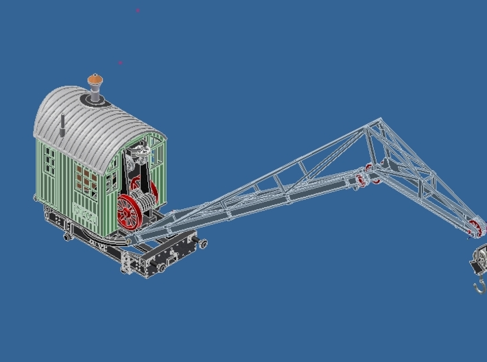 0015 HO 1:87 Dampfkran DEMAG mit Wippe 1920 3d printed Add a caption...
