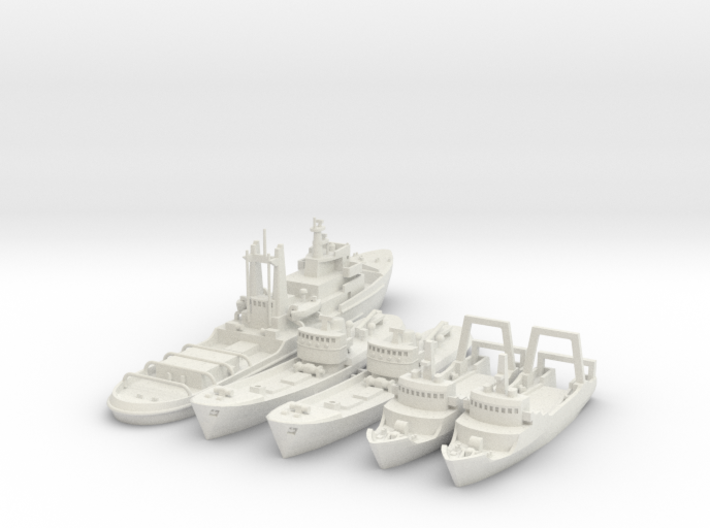Lloydsman tug and trawlers 1/700 and 1/600 3d printed