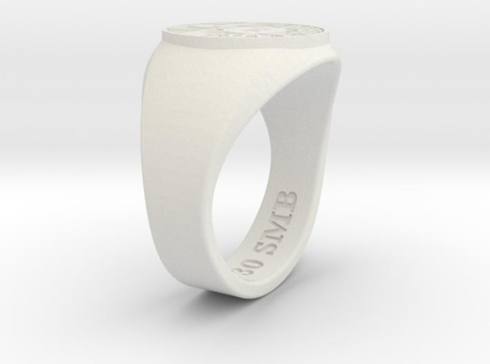 Superball Rasta Ring 3d printed