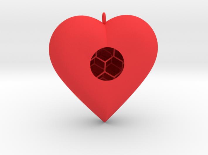 Diamond Heart 3d printed