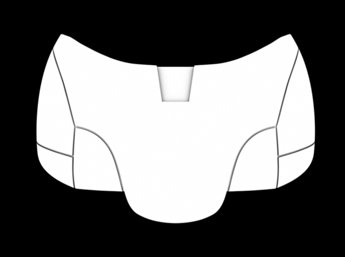 Iron Man Pelvis Armor, Front Left (Part 1 of 5) 3d printed CG Render (Back)