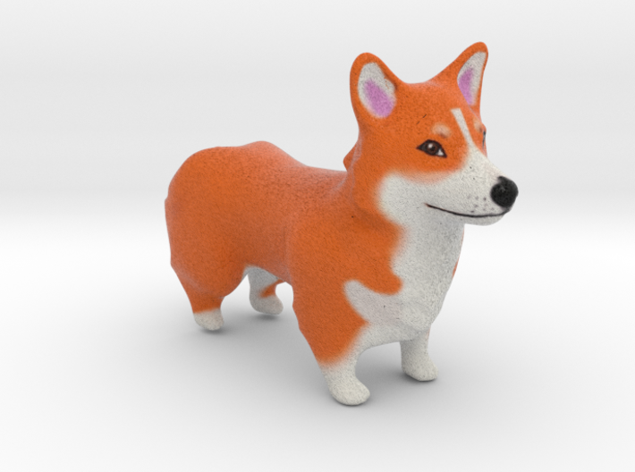 Red Corgi 3d printed