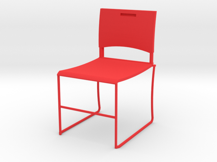HTLA Red Chair 10% 3d printed