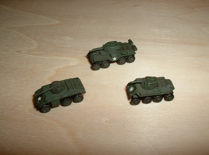 Heavy Armored Cars T13, T17, T18 1/285 6mm 3d printed