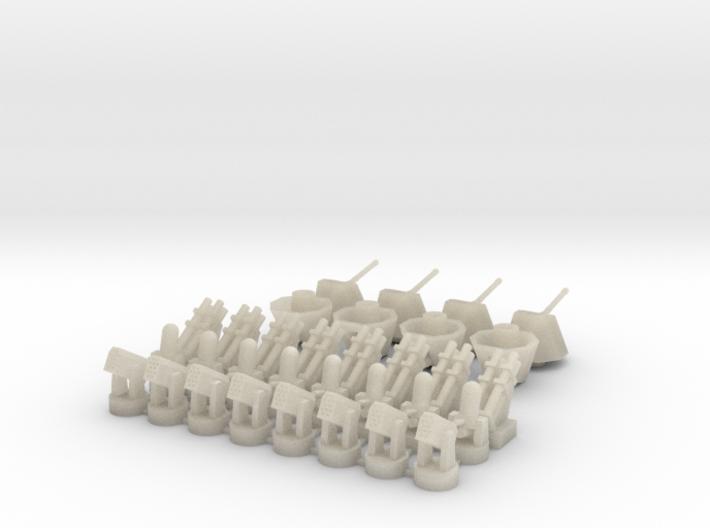 Harpoon+CIWS+RAM+Oto Melara (x8) 3d printed