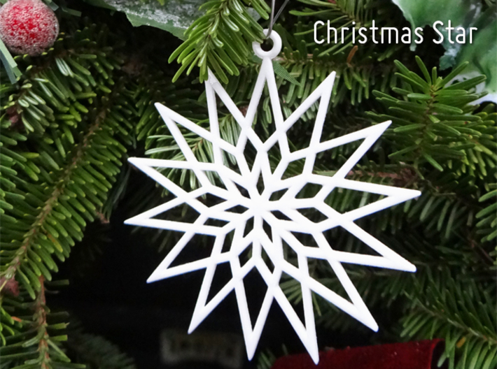 Christmas Star Ornament 3d printed