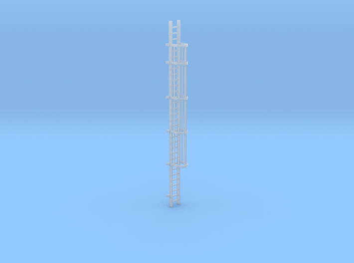 'HO Scale' - 30' Caged Ladder 3d printed
