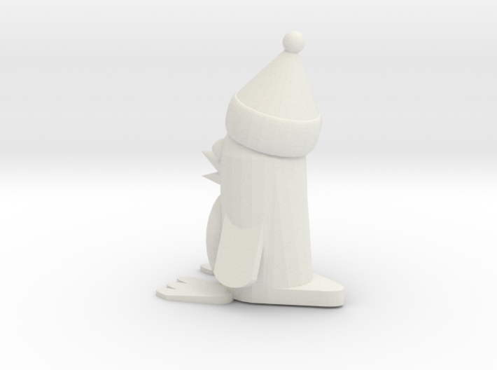 Christmas Penguin 3d printed