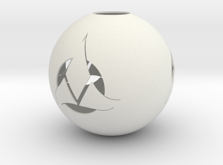 Klingon Ornament 3d printed