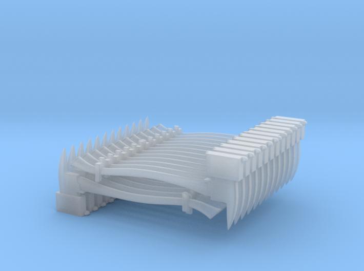 Axe Set (dozen of each)(1/24 scale) 3d printed