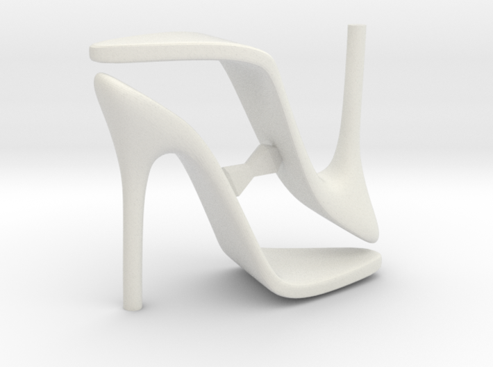 Women High Heel Base Two Shoes 3d printed