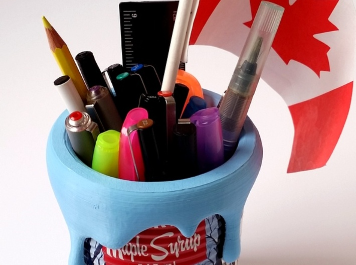 Paint Can - Pencil Holder Decoration 3d printed pla print