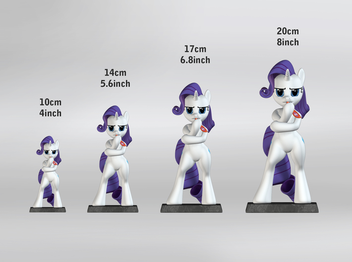 My Little Pony - Fabulous Rarity 17cm 3d printed