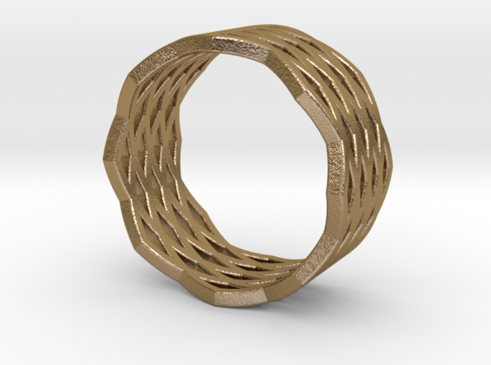Urban Grid Ring 3d printed