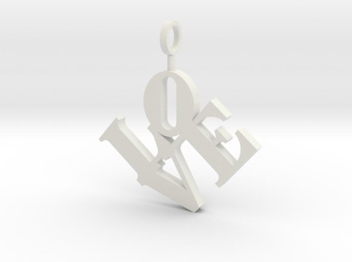 Love Sculpture Pendant 3d printed