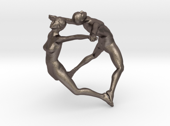 Hooped Figures JOY 40mm for Stainless Steel Print 3d printed